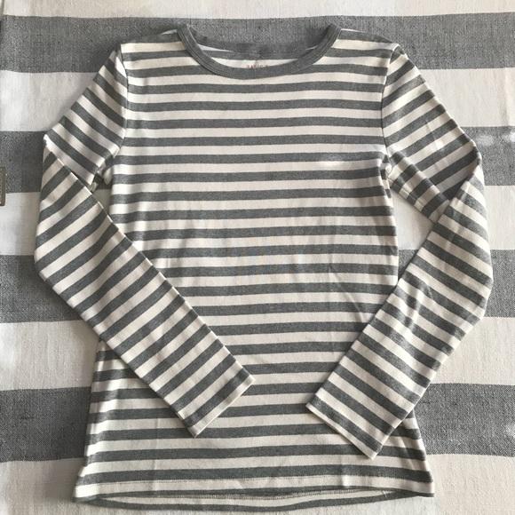 bdda6c446 Joe Fresh Tops | Basic T Gray White Stripe Long Sleeve | Poshmark